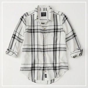Abercrombie Drapey Plaid Shirt